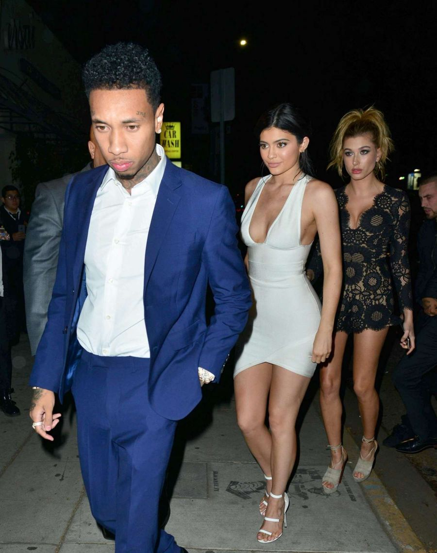 Kylie Jenner and Tyga at American Music Awards Party