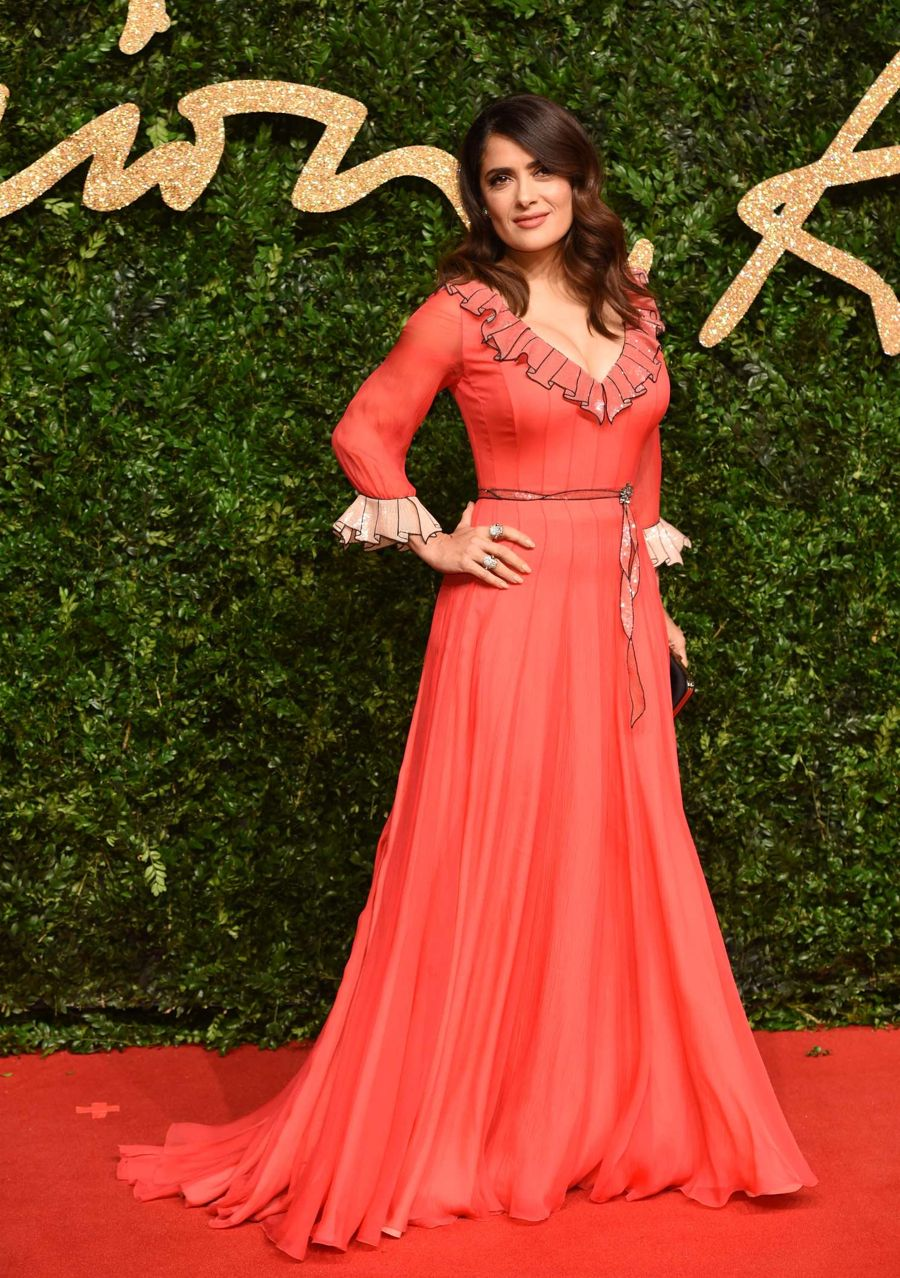 Salma Hayek - British Fashion Awards 2015 in London