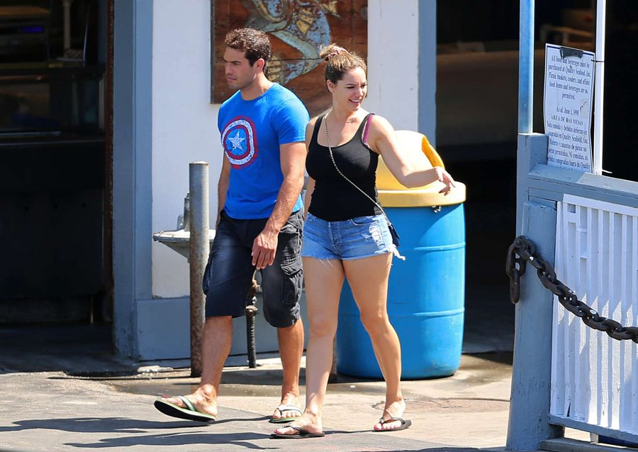 Kelly Brook in Shorts out in Manhattan Beach