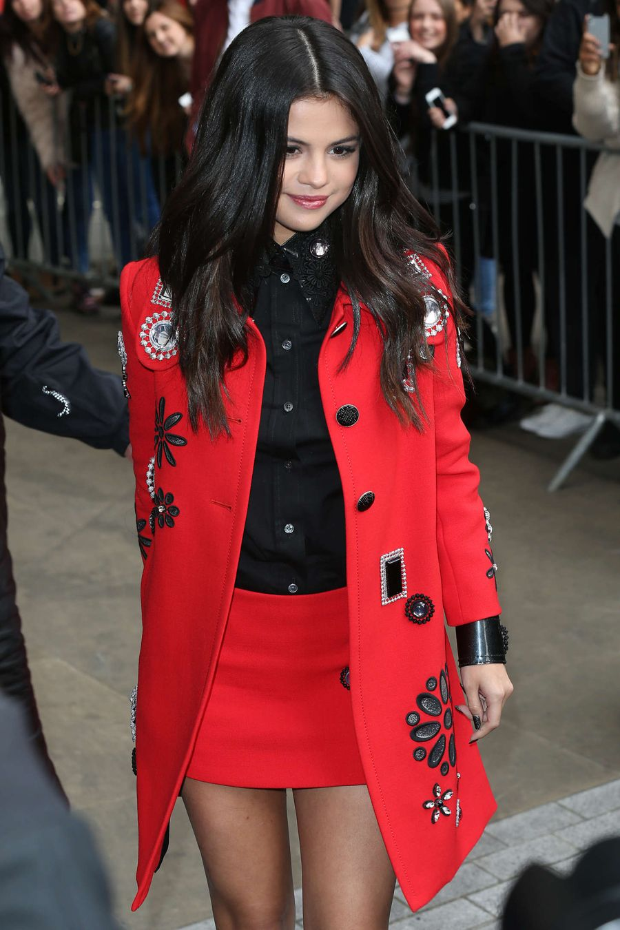 Selena Gomez - Leaving BBC Radio1 in London