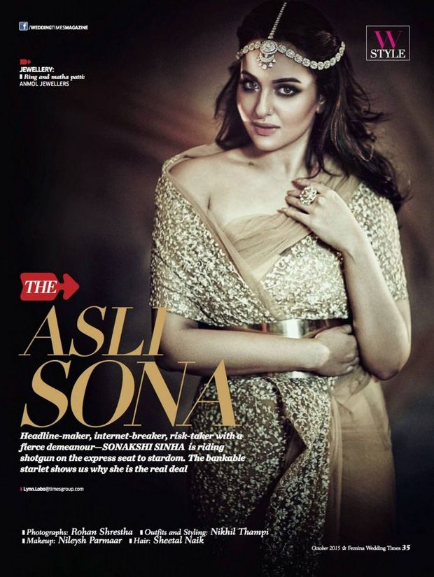 Gorgeous Sonakshi Sinha on Femina Wedding Times October 2015