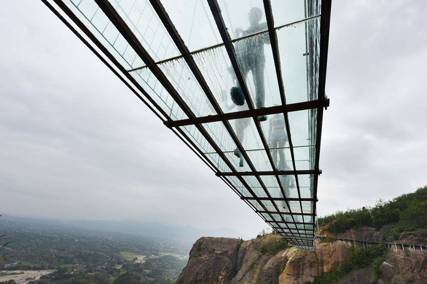 People Scared of World's Longest Glass Bridge