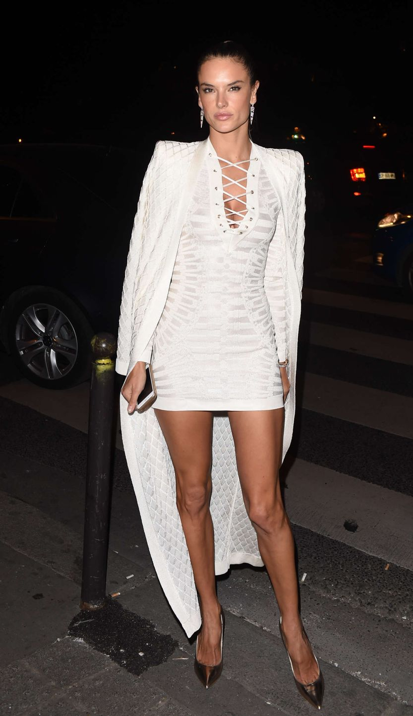 thoughts on discount sale look for Alessandra Ambrosio - Balmain Show After Party in Paris ...