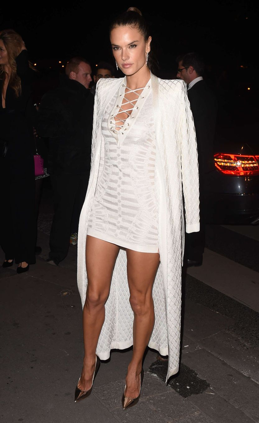 Alessandra Ambrosio - Balmain Show After Party in Paris