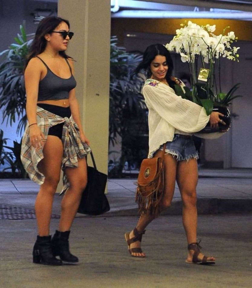 Vanessa and Stella Hudgens Leaving a hospital in L.A.