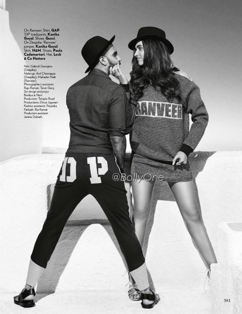 Deepika, Ranveer on Vogue Magazine Oct 2015