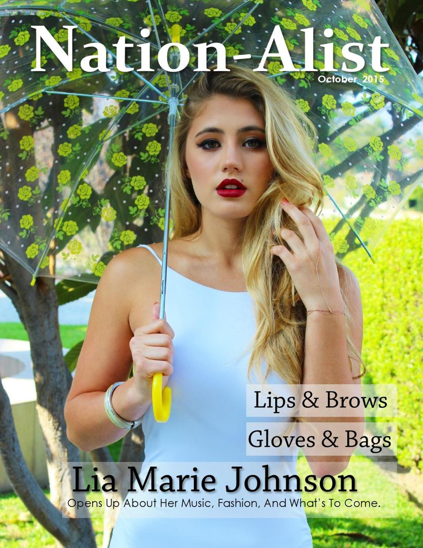 Lia Marie Johnson - NationAlist Magazine (Oct 2015)
