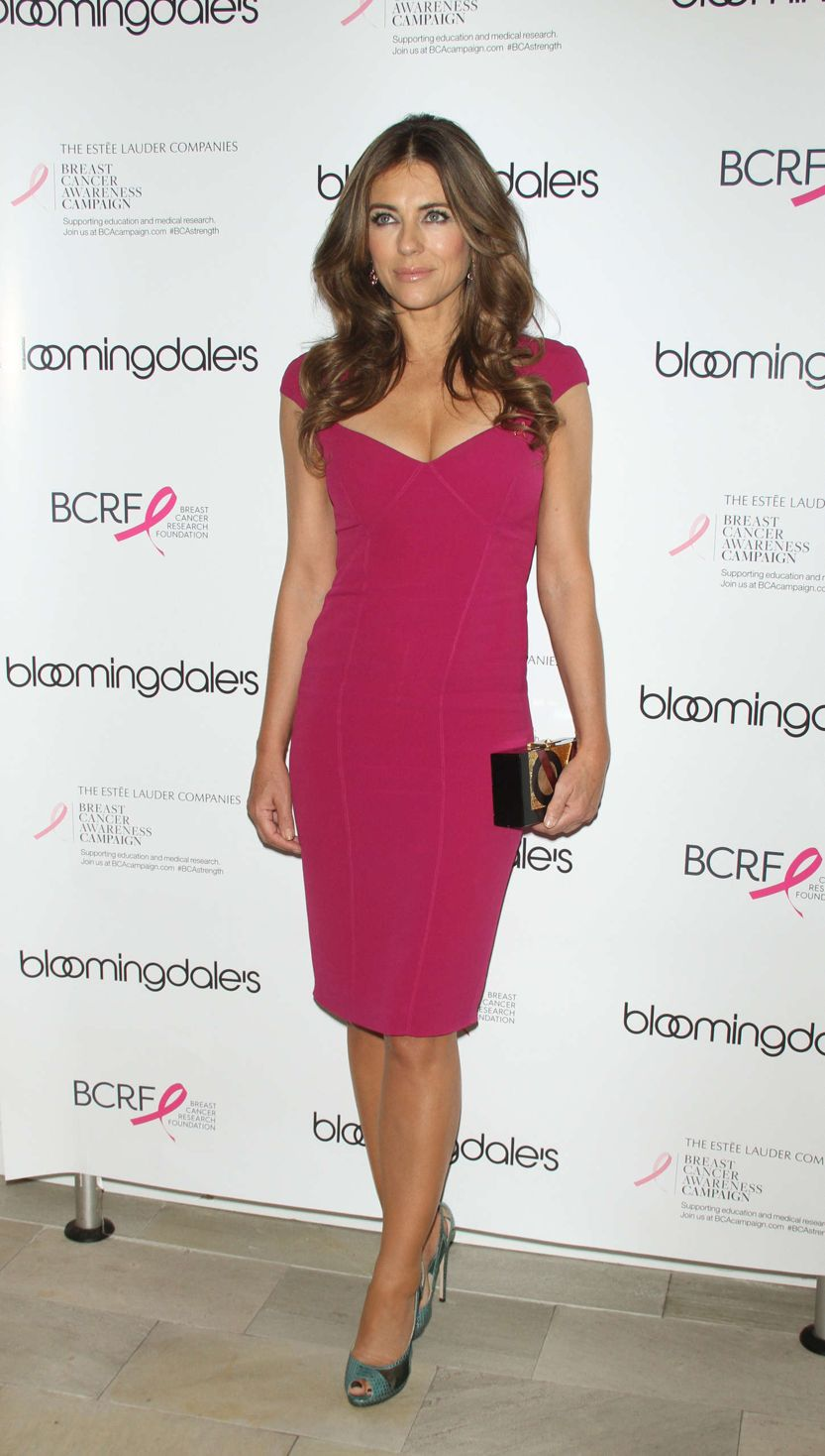 Elizabeth Hurley Looks Stunning at Cancer Awareness