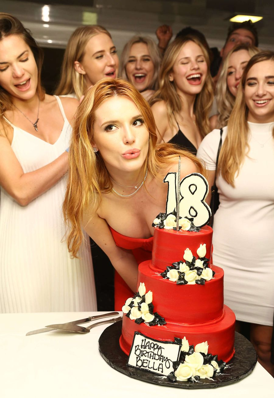 Bella Thorne - Celebrates Her 18th Birthday on a Yacht