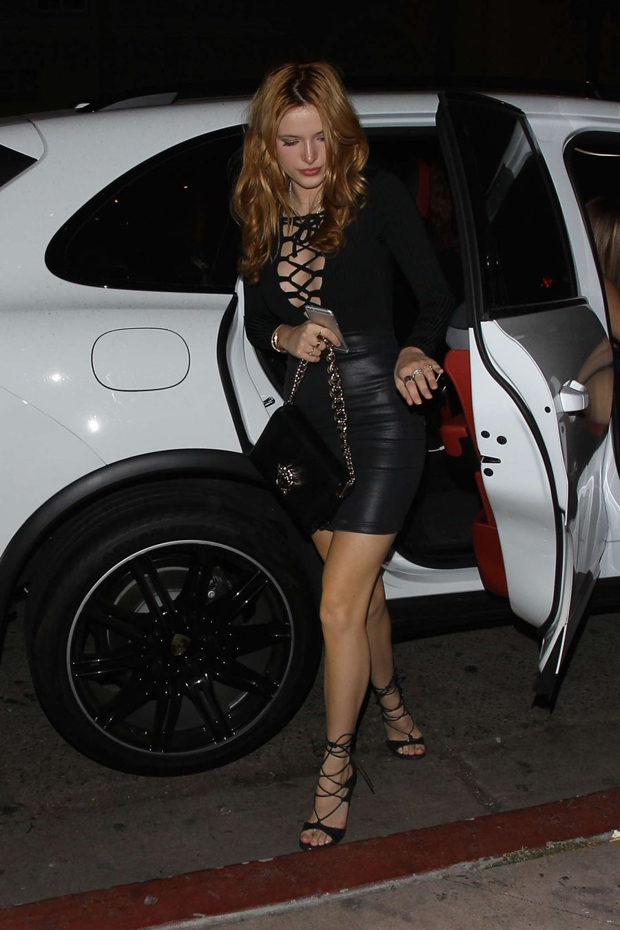 Bella Thorne - The Black Dress for her Birthday