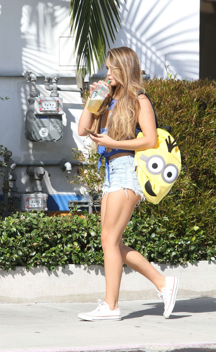 Paris Berelc in Shorts Out in Los Angeles