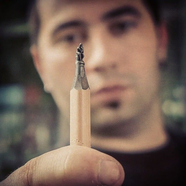 Detailed Sculptures Carved From Pencil Tips