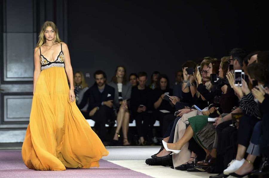 Gigi Hadid - Giambattista Show at Paris Fashion Week