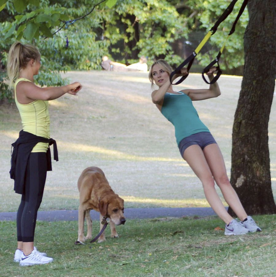 Kimberley Garner - Workout in London