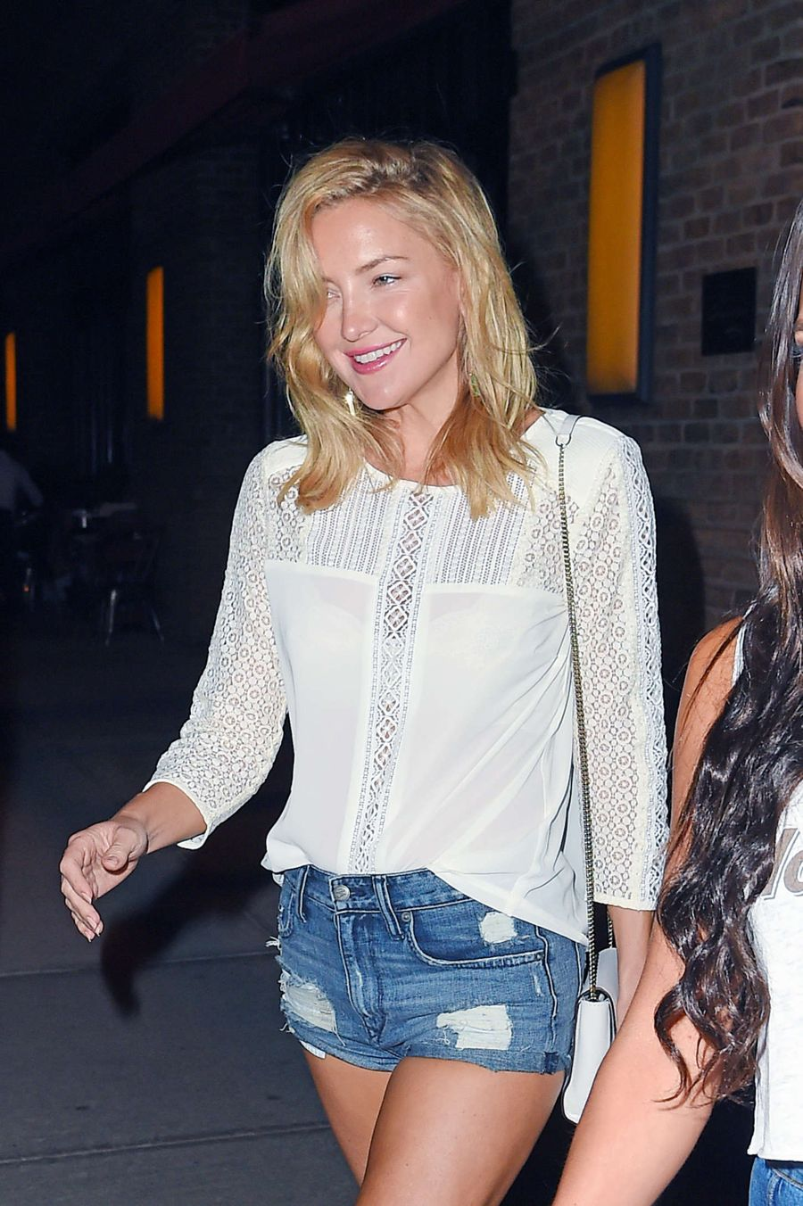 Kate Hudson in Denim Shorts During Labor Day Weekend
