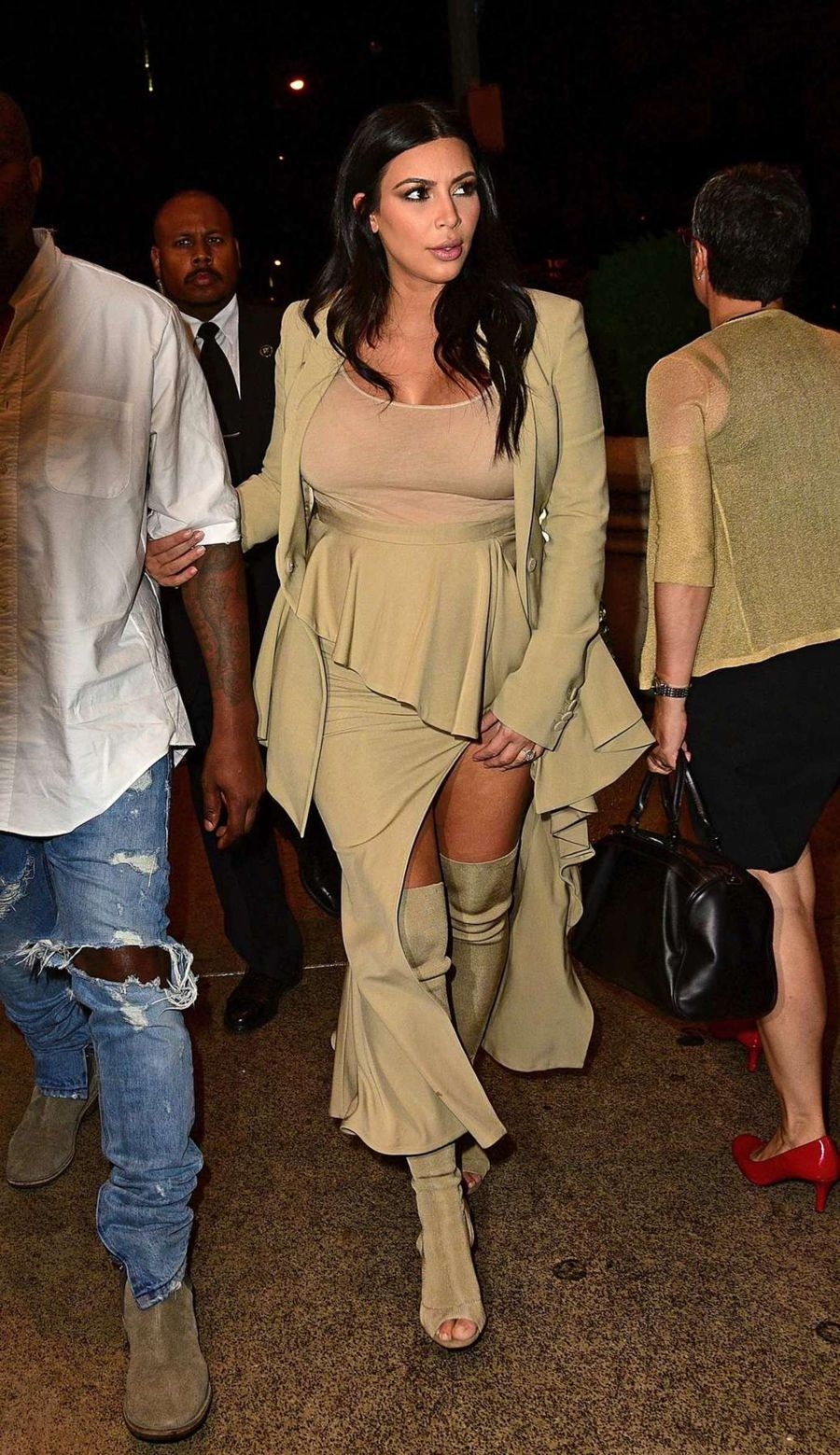 Kim Kardashian Attend at Rihanna Party in NYC
