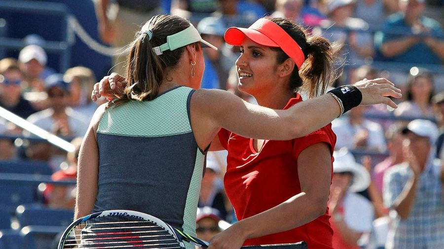 Back-to-back Slam Titles for Sania Mirza and Hingis