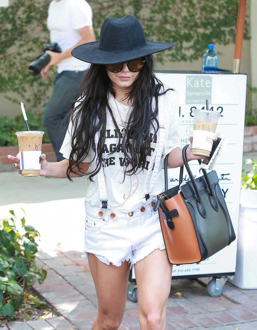 Vanessa Hudgens - Out and about in West Hollywood
