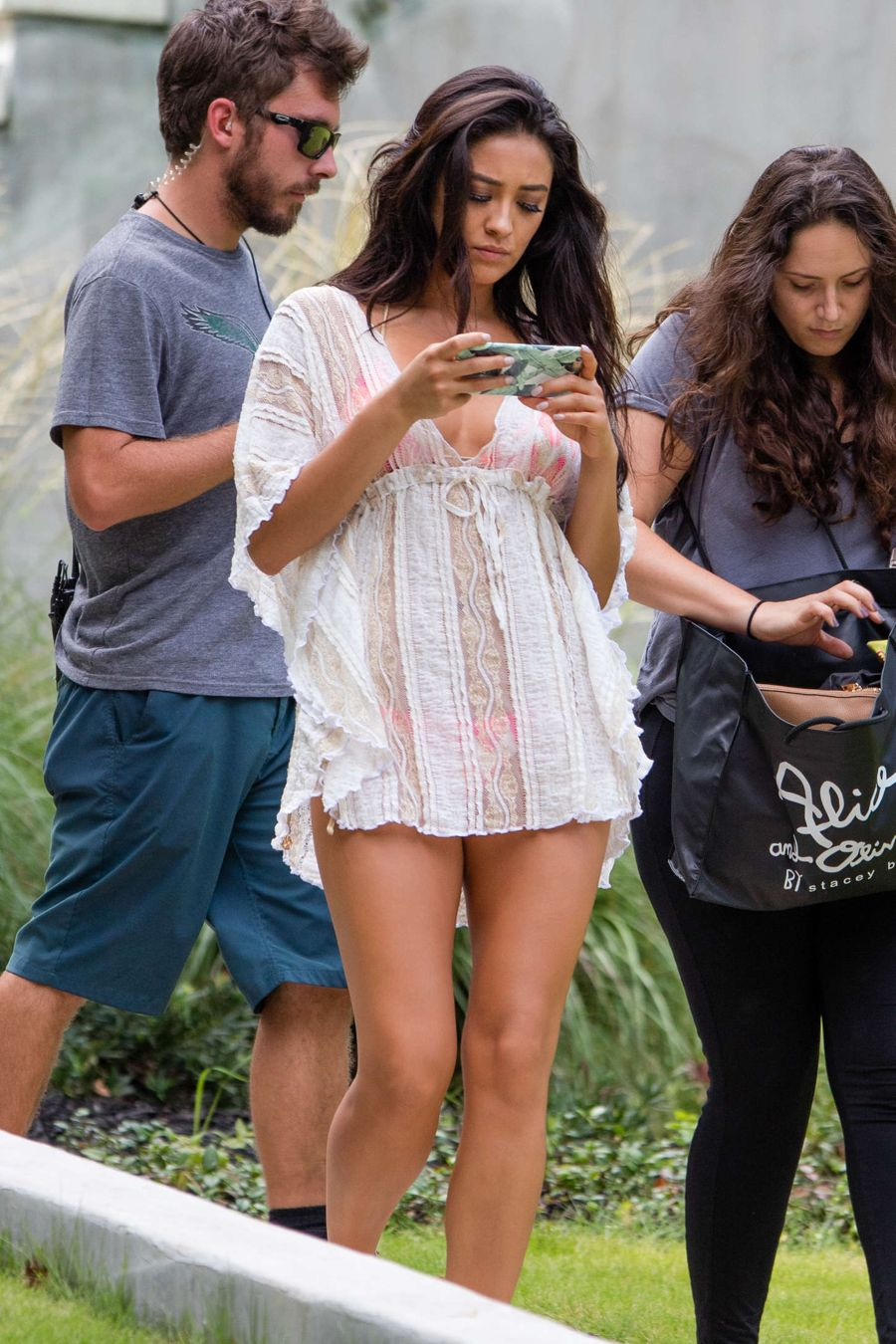 Shay Mitchell - On the set of 'Mother's Day' in Atlanta