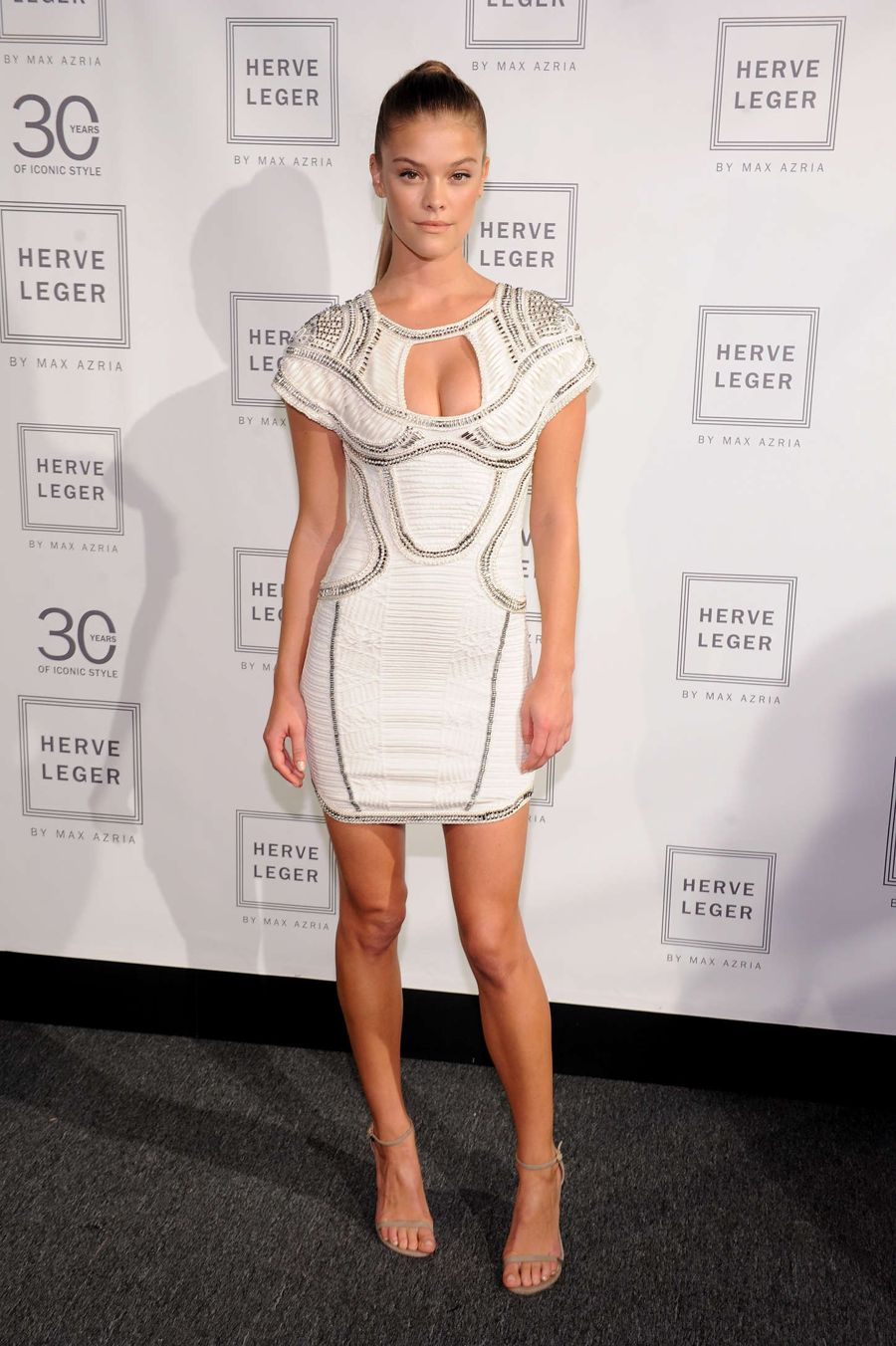 Nina Agdal - Herve Leger by Max Azria Fashion Show