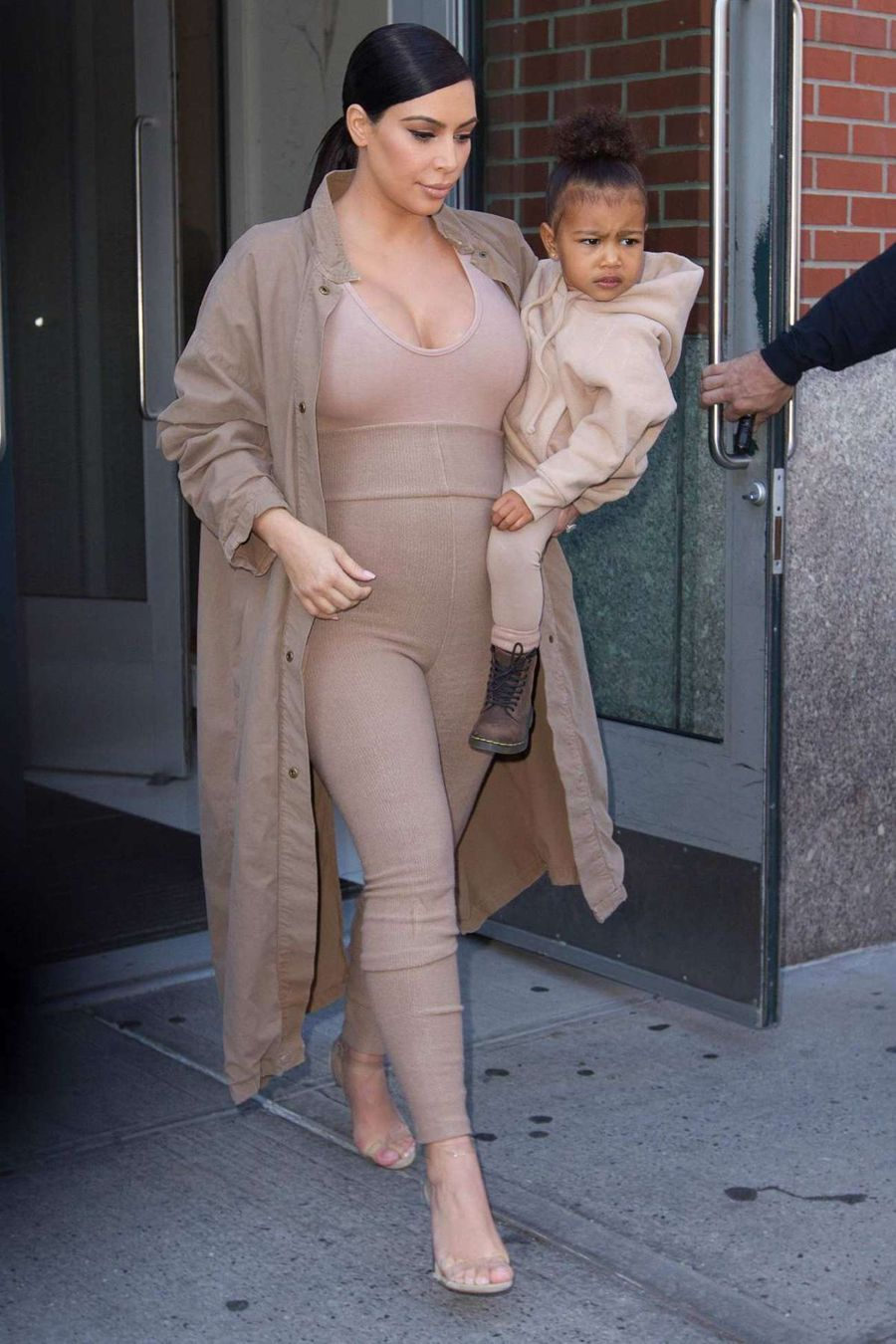 Kim Kardashian and Daughter Leaving Apartment in NYC