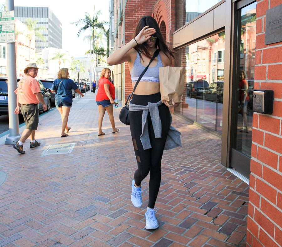 Kendall Jenner in Spandex Out in Beverly Hills