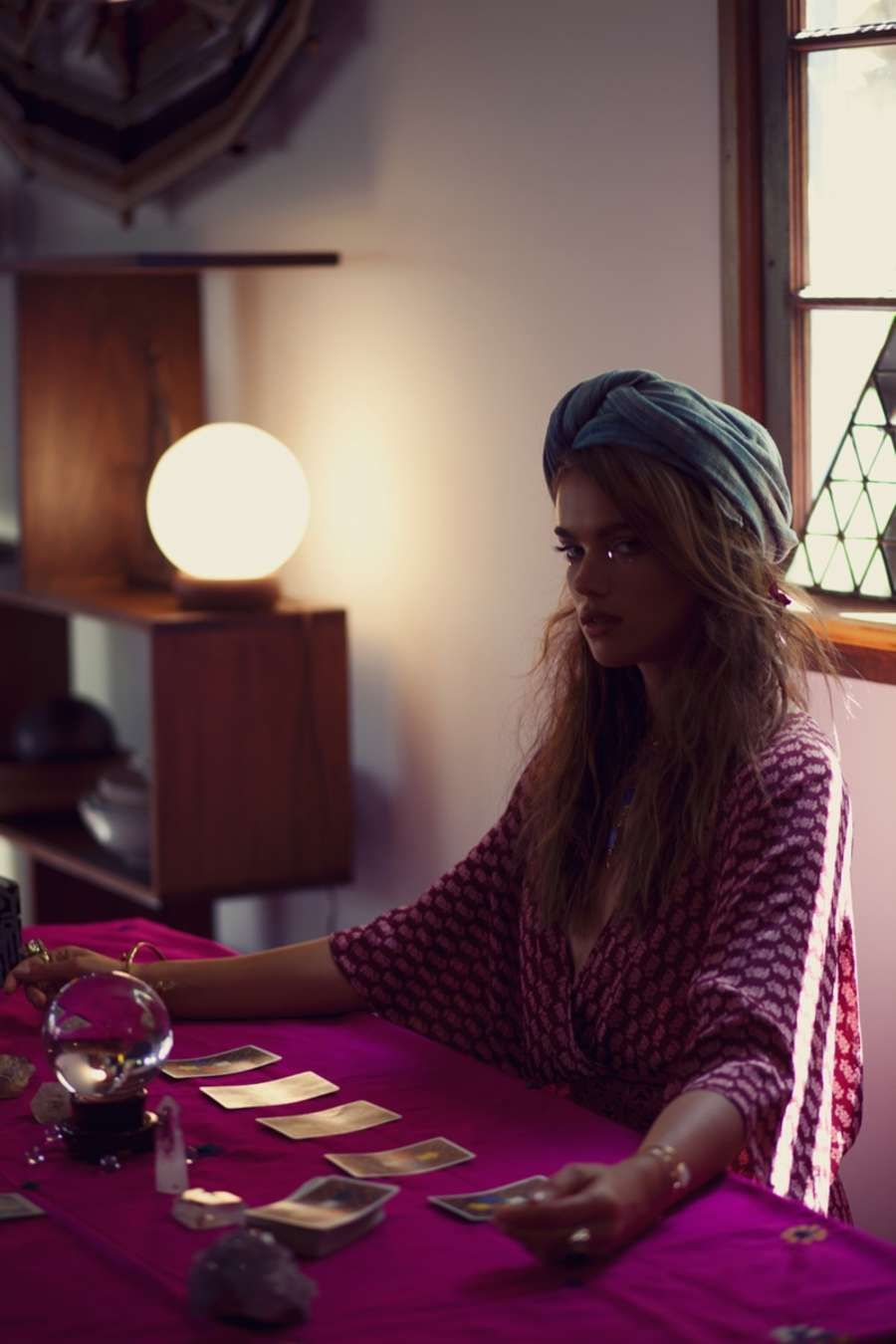 Jena Goldsack - Boho Glam Planet Blue Lookbook