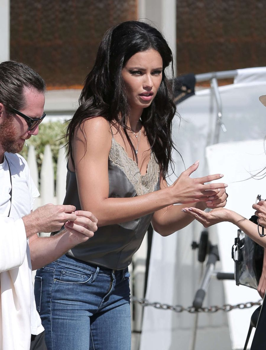 Adriana Lima - Vogue Eye Wear Line Photoshoot in LA