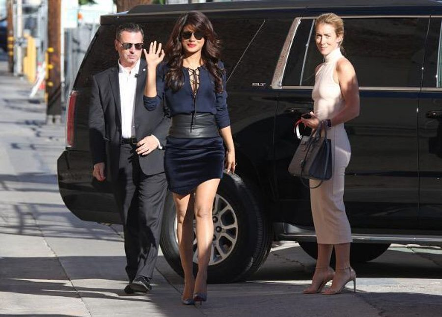 Priyanka Chopra spotted in Los Angeles Jimmy Kimmel TV Show