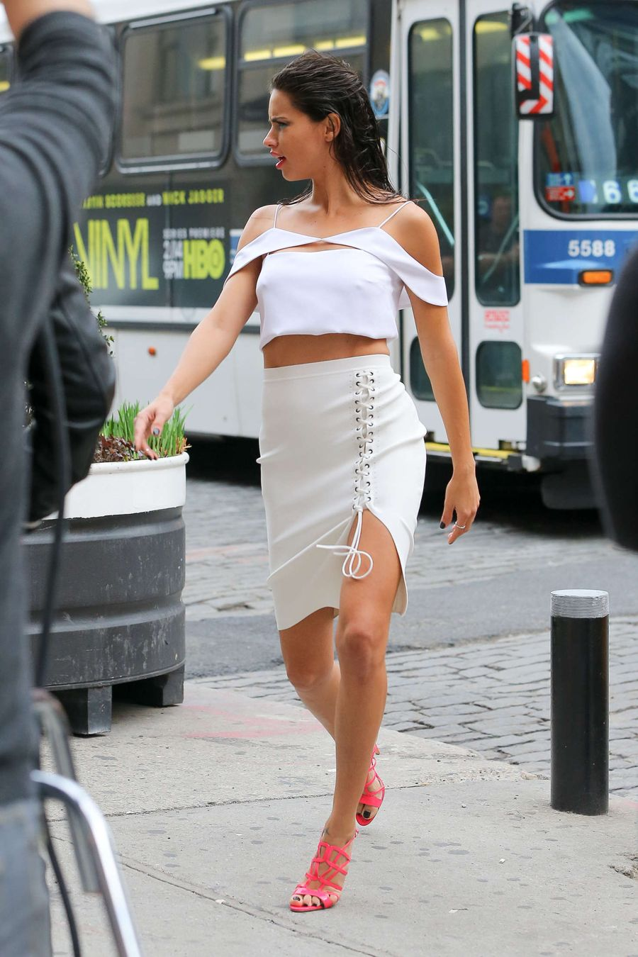 Adriana Lima on a Photoshoot in New York
