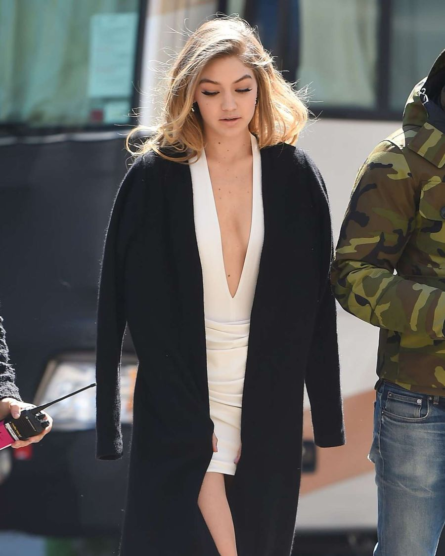Gigi Hadid on The Maybelline Photoshoot in New York