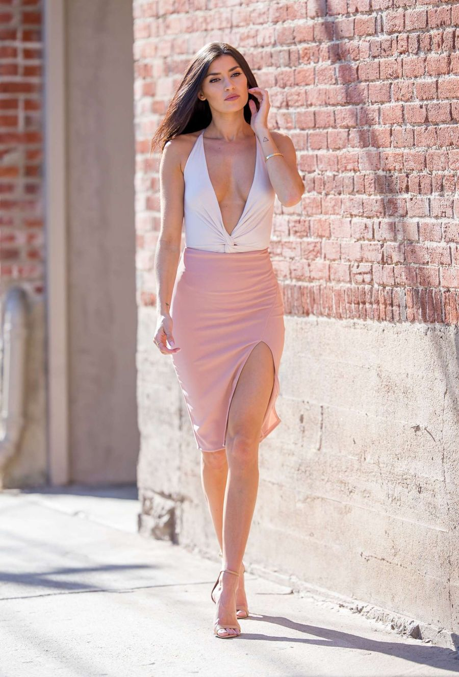 Nicole Williams on a Photoshoot in LA