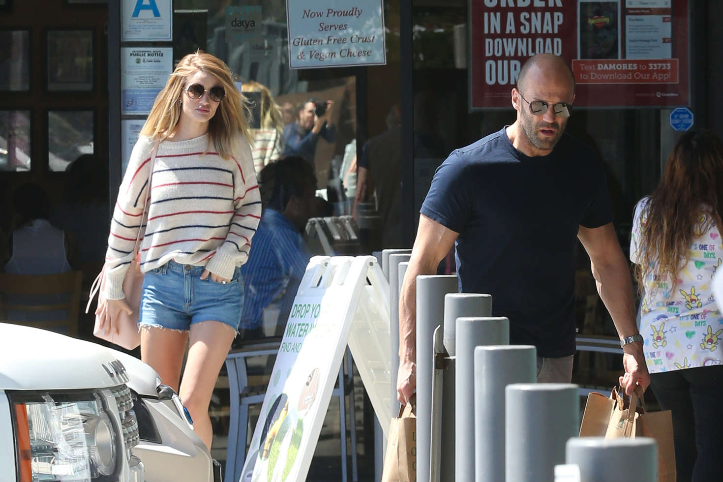 Rosie Huntington Whiteley in Jeans Shorts out in L.A.