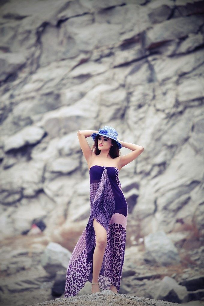 Sony Charishta Sizzles in Purple Dress