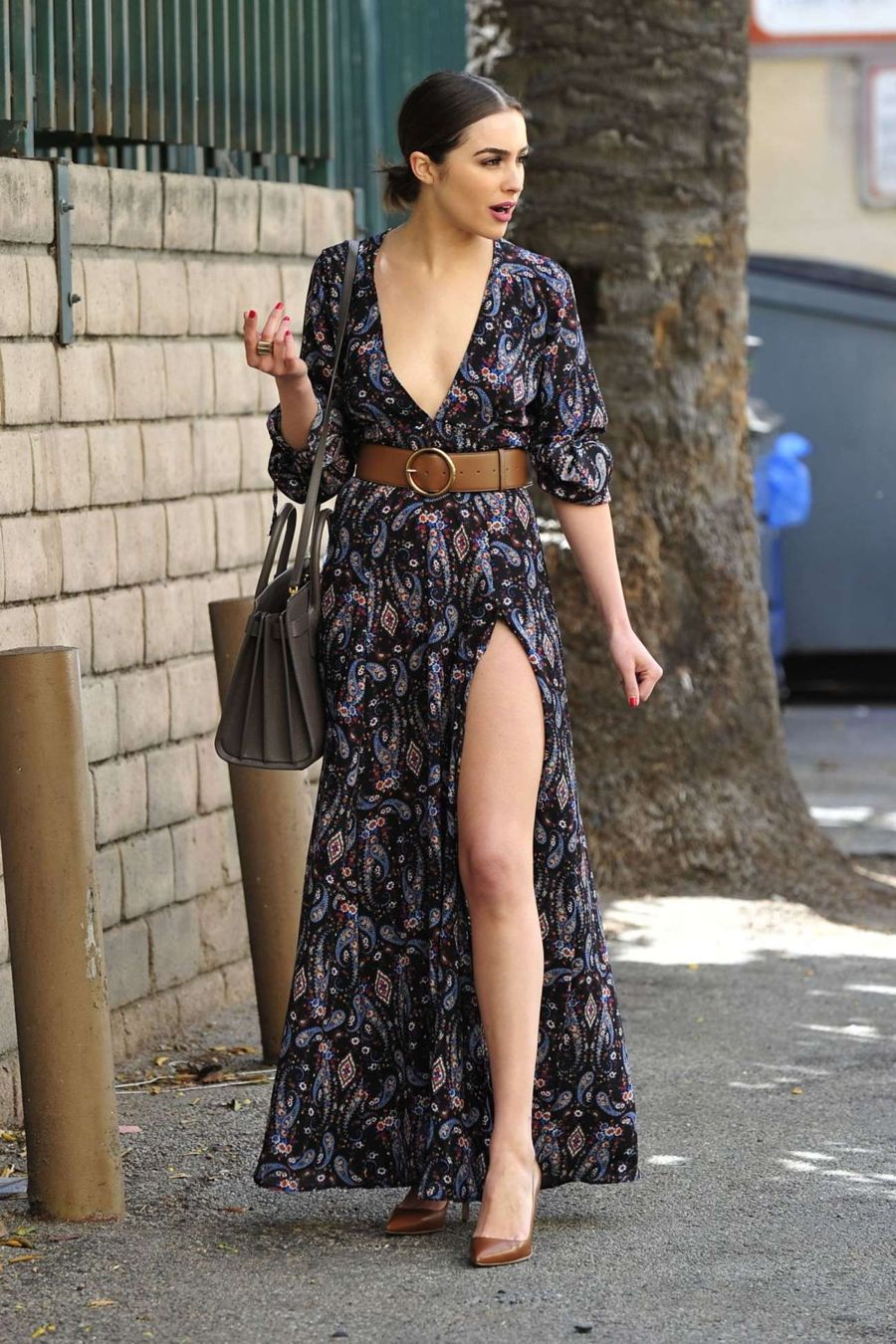 Olivia Culpo in Long Dress out in Los Angeles