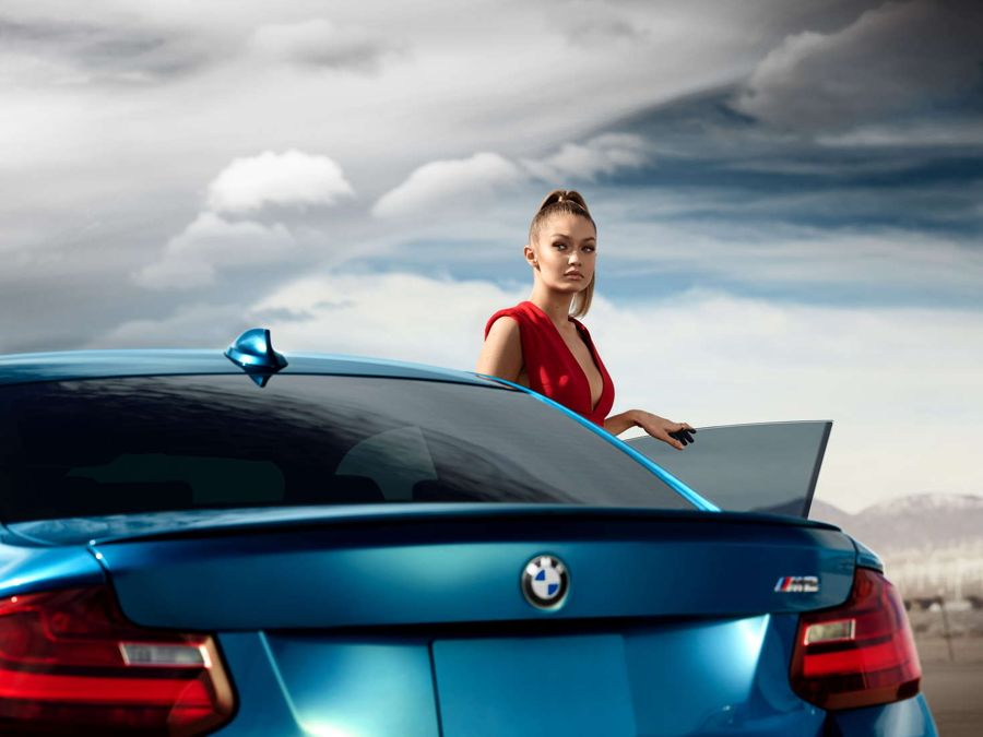 Gigi Hadid - BMW M2 Advertising 2016