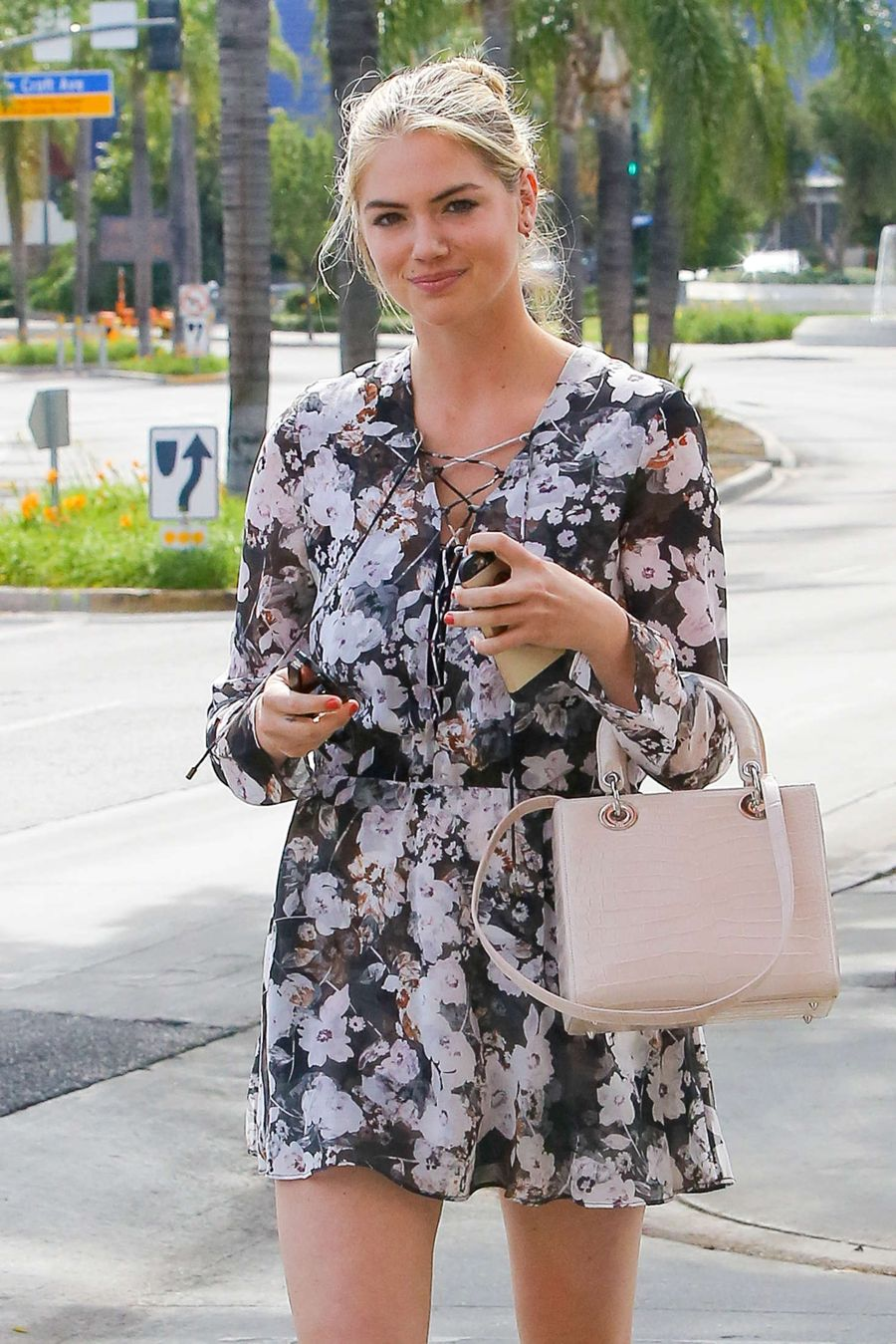 Kate Upton in Mini Dress out in West Hollywood