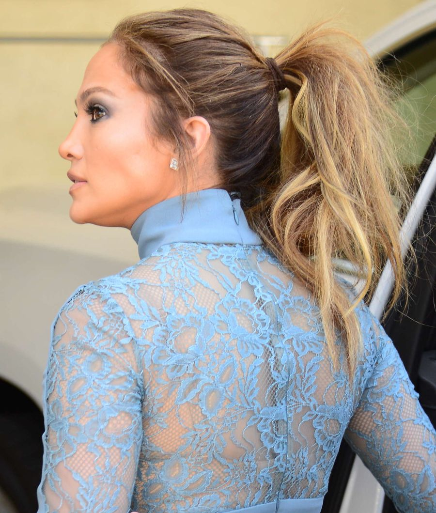 Jennifer Lopez at a recording studio in Studio City