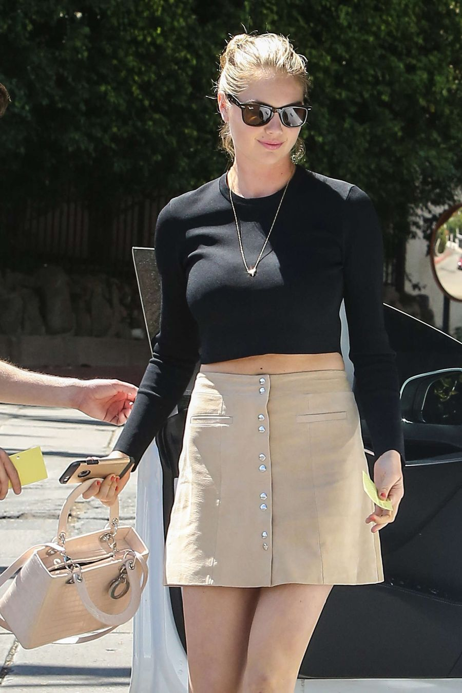Kate Upton in Mini Skirt out in West Hollywood