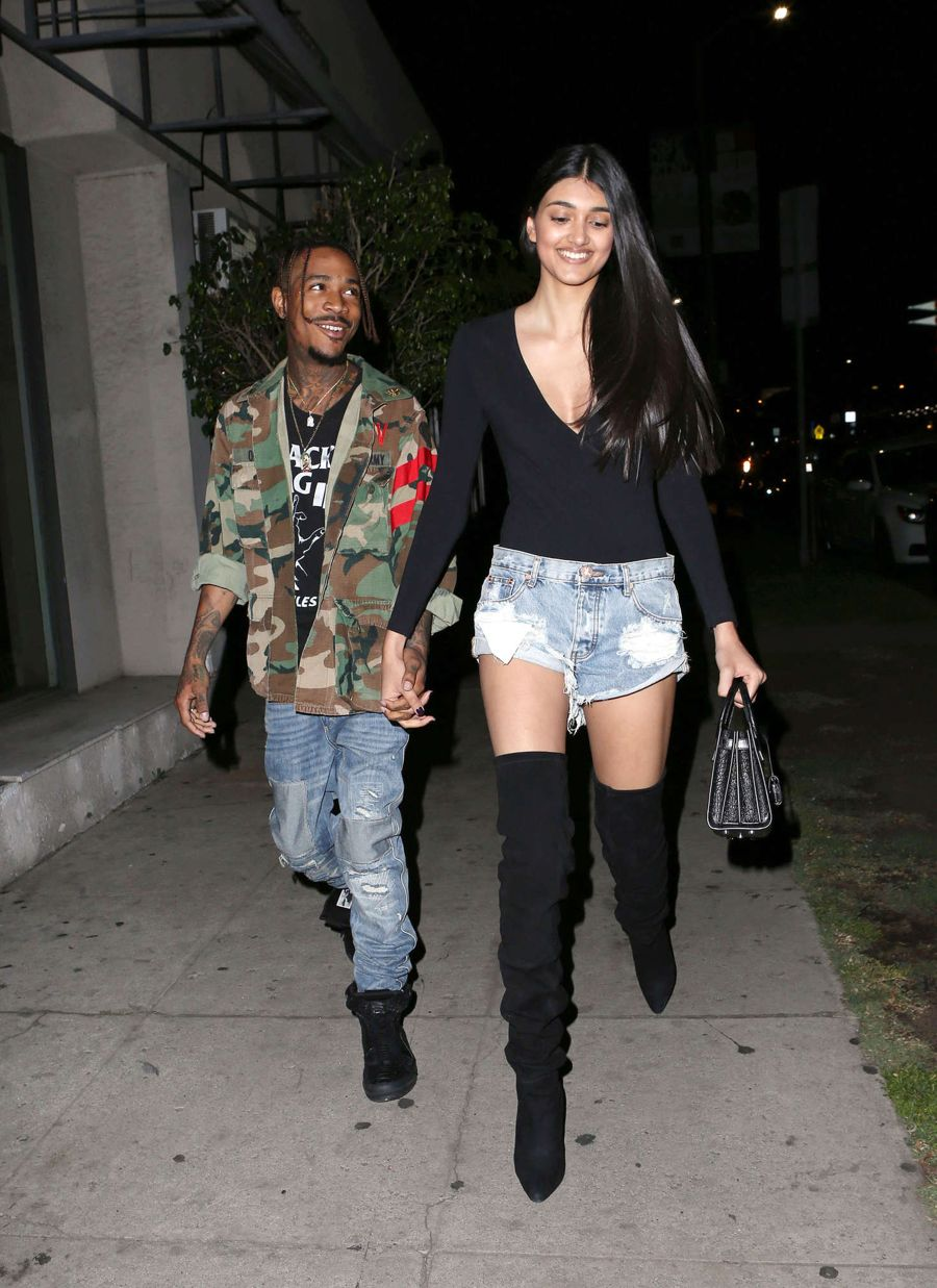 Neelam Gill in Jeans Shorts at The Nice Guy in L.A.