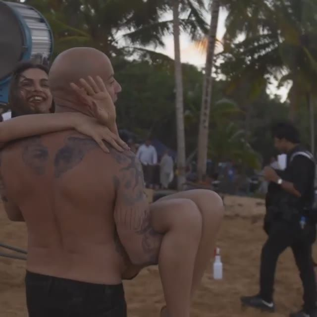 Vin Diesel carries Deepika Padukone in her Arms
