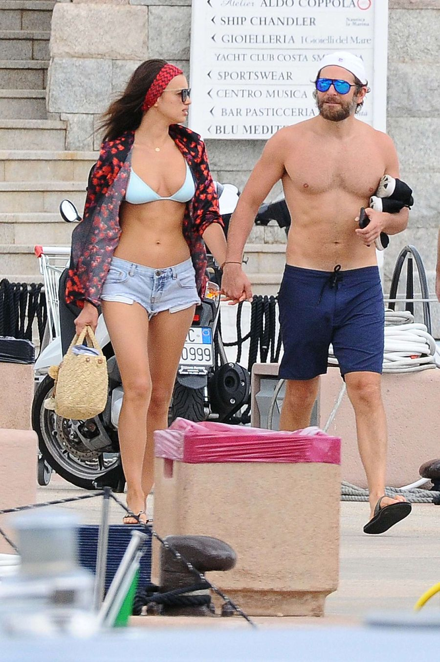Irina Shayk displays her Svelte Physique in Sardinia