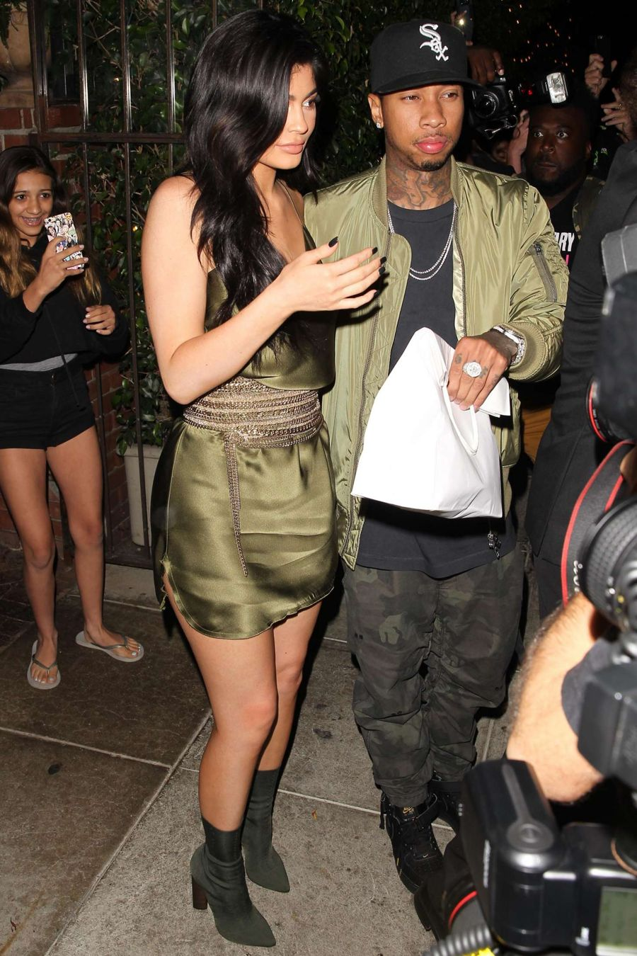Kylie Jenner at a restaurant in Beverly Hills