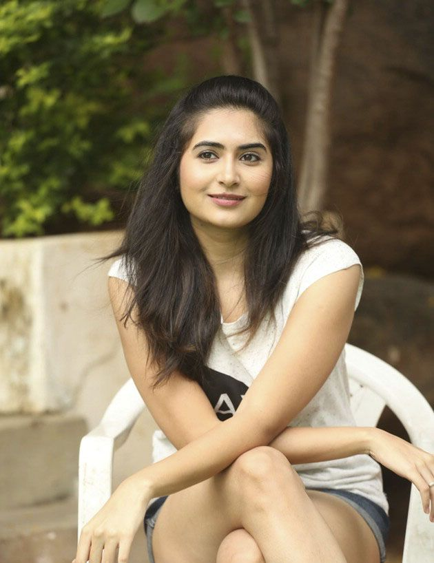Cute Vyoma Nandi Seen in White T-Shirt and Denim Shorts