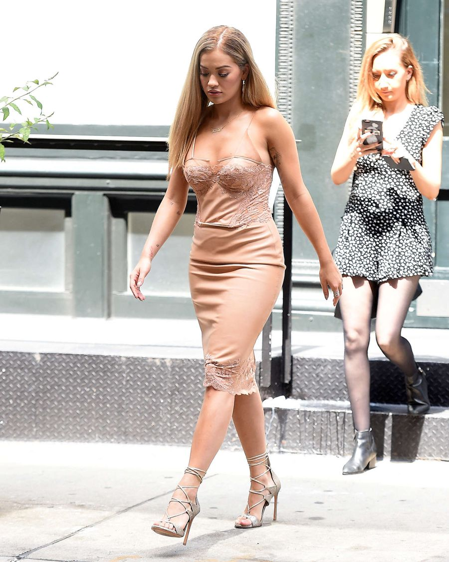 Rita Ora in Dress out in New York City