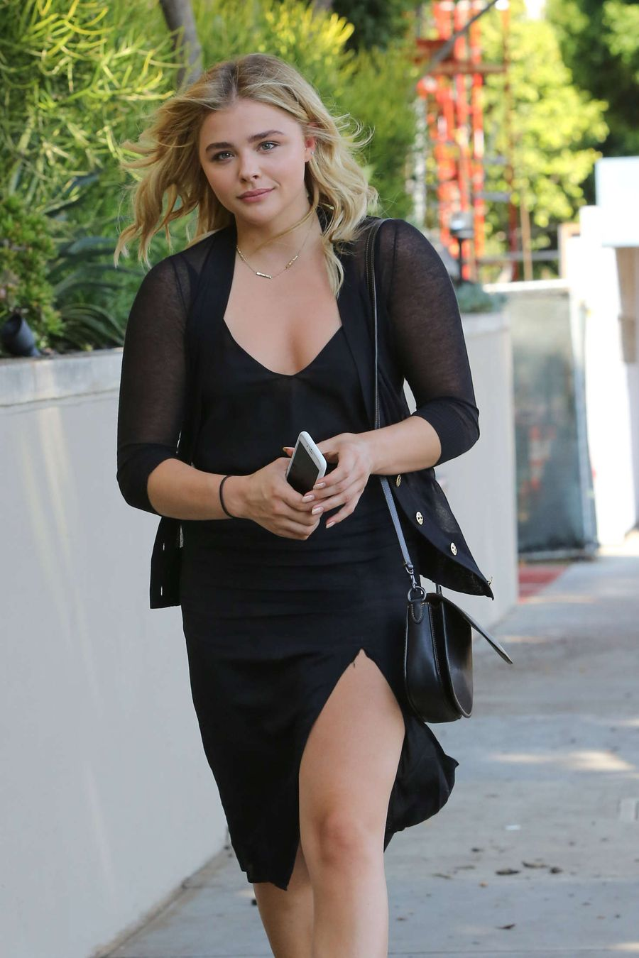 Chloe Moretz in Black Dress out in Beverly Hills