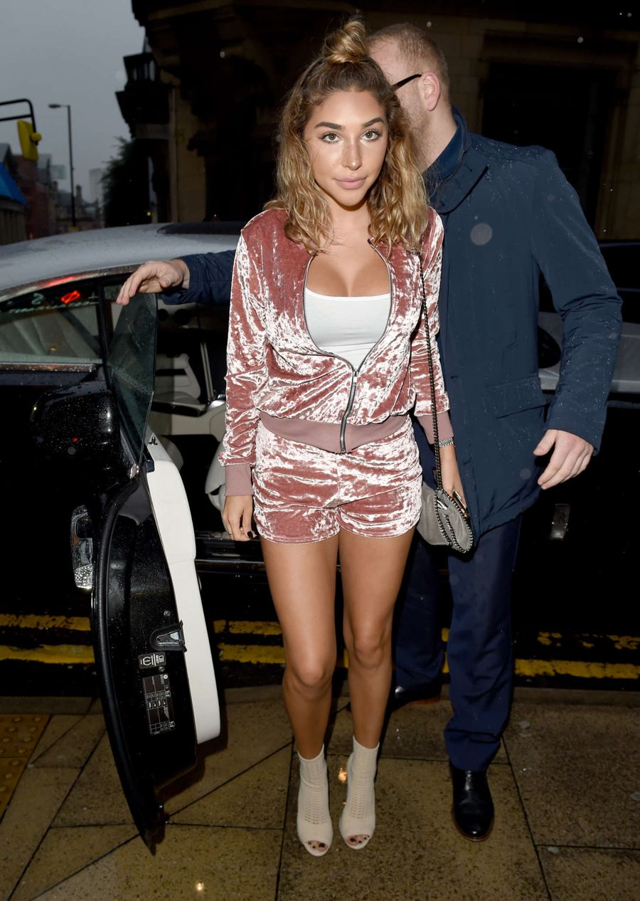 Chantel Jeffries - Arrives at Rosso Restaurant in Manchester