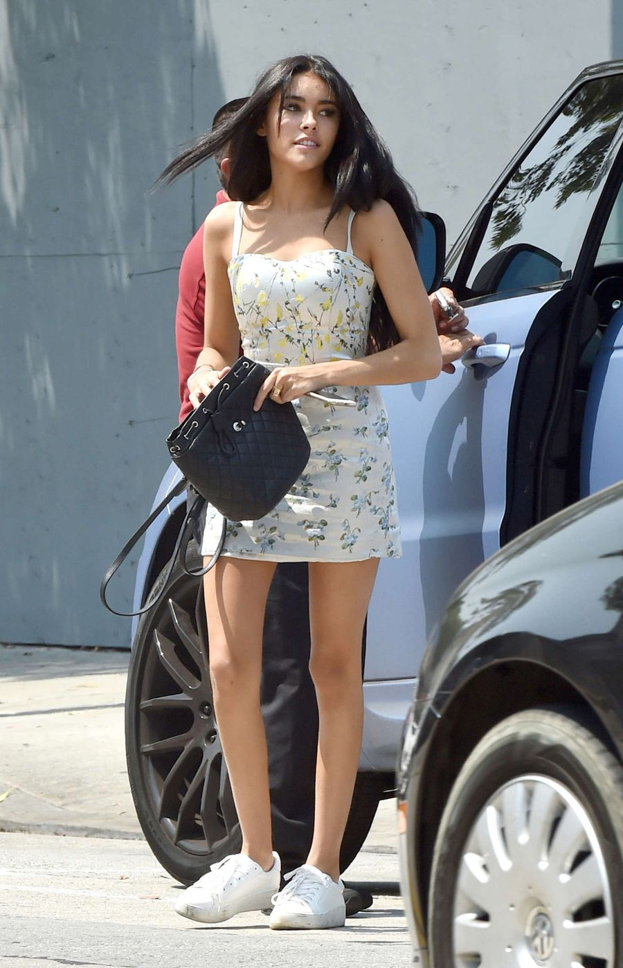Madison Beer in Mini Dress Out in West Hollywood