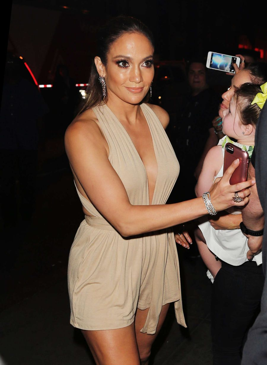 Jennifer Lopez at Marc Anthony's Concert in New York