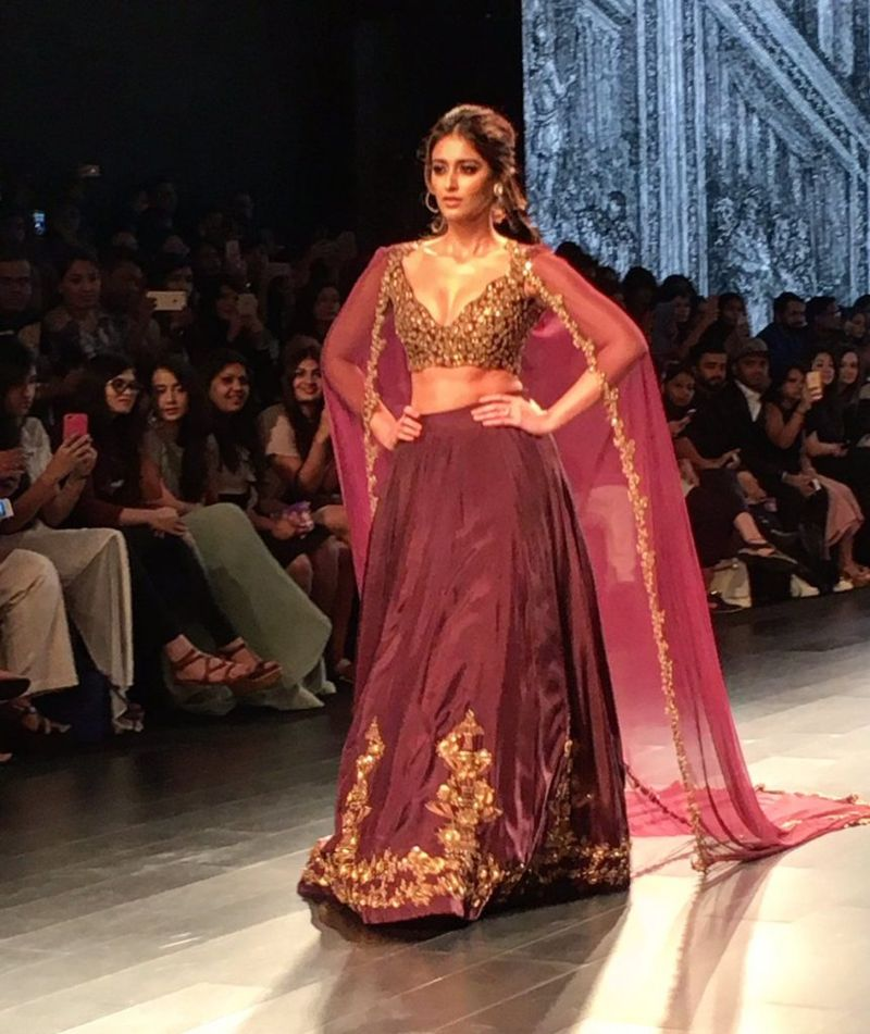 Ileana D'Cruz Walks for Ridhi Mehra at Lakme Fashion Week